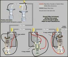 4 way switch wiring diagram Residential Electrical Wiring Diagrams at Woodshop Wiring Diagram