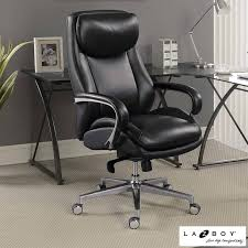 leather office chair. La-Z-Boy Black Leather Executive Office Chair H