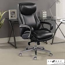 leather desk chair. La-Z-Boy Black Leather Executive Office Chair Desk
