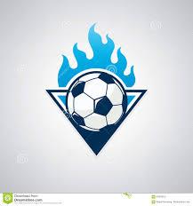 Football Emblem Design Soccer Logo Emblem Design Illustration Stock Illustration
