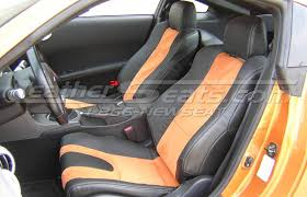 nissan 350z modified interior. 2007 nissan 350z twotone black w special order burnt orange suede leather interior 350z modified