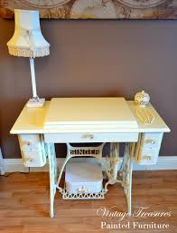 An antique Singer Sewing Machine turned into the Vanity Dressing ...