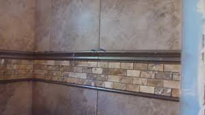 part 3 how to tile 60 tub surround walls installing mosaic accent border and shelf you