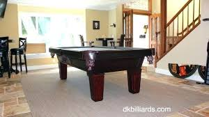 rug under pool table size alluring placing a on billiards service orange rugs what to put