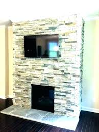 installing stacked stone veneer stone veneer surrounding the fireplace cost to install