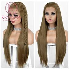 "New Arrival 13x6 Lace Front Wig Brown 6"" Deep <b>Free Part Straight</b> ..."