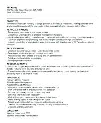 Resume For Apartment Manager Apartment Manager Resume Property