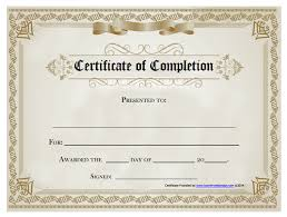 Certificates Of Completion Templates 18 Free Certificate Of Completion Templates Utemplates
