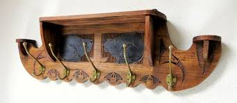 Arts And Crafts Coat Rack Best Arts Crafts Wall Coat Rack With Carving Of Cats Catawiki
