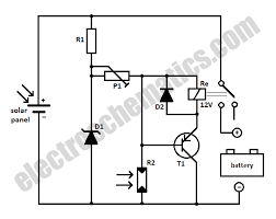 schematic battery the wiring diagram solar panel to battery switch circuit schematic