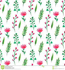 cute flower pattern wallpaper. Plain Wallpaper Cute Floral Seamless Pattern Summer Flowers Branches And Leaves Vector  Watercolor Painting To Flower Pattern Wallpaper A