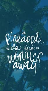 Summer Quotes Aloha A Pineapple A Day Keeps The Worries Away