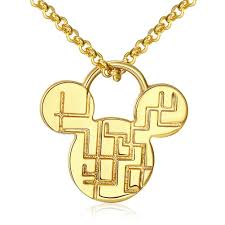 imitation gold plating mickey mouse pendant necklace
