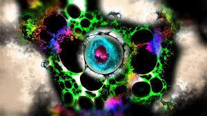 psychedelic trance trippy hypnotism acid green