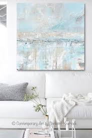 original art abstract painting textured canvas coastal landscape horizon home decor light blue grey white x  on coastal wall art near me with original art abstract painting blue grey textured coastal wall decor