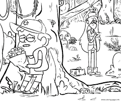 Gravity Falls Dipper Valentines Day Flowers Coloring Pages Printable