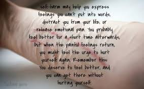 Hurting Yourself Quotes Best of Self Harm Is Not The Anwere All U Have To Do Is Love Urself It May