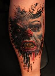 Awesome Terrible Clown Monster Tattoo Tattoos Book 65000