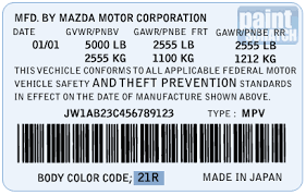 2014 Mazda 3 Color Chart Mazda Touch Up Paint Color Code And Directions For Mazda