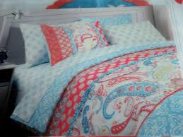 Cynthia Rowley Coral, Aqua Blue & White Paisley floral 2p Twin ... & Cynthia Rowley Coral, Aqua Blue & White Paisley floral 2p Twin/Twin XL  duvet Set Adamdwight.com