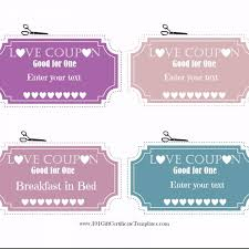 Free Editable Love Coupons For Him Or Her With Love Coupon
