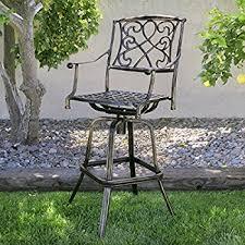 best choice products outdoor cast aluminum swivel bar stool patio furniture antique copper design patio swivel bar stools s17