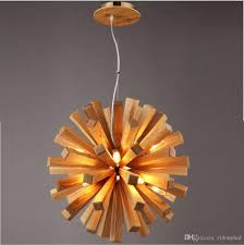 nordic wood handcraft led pendant light 10 heads wooden chandeliers dining hall bar cafe american country pendant lamp art g9 bulbs metal pendant light