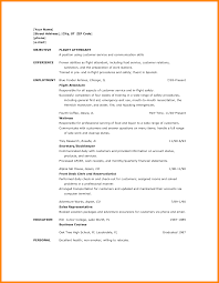 5+ resume for flight attendant with no experience