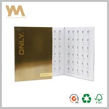 Hot Item Color Chart Paper Eye Shadow Palette Box