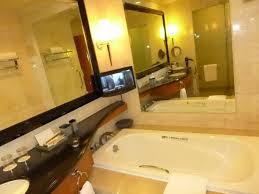 pan pacific manila bathroom with flat screen lcd pan pacific hotel