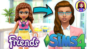 Lego Friends Olivia as a Sim (finally)! Sims 4 Create a Sim - YouTube