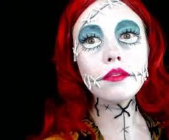 sally the ragdoll nightmare before makeup tutorial