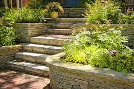 flagstone landscaping. Flagstone Retaining Wall And Steps, Front Entrance To Home Landscaping E
