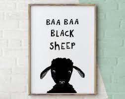 baa baa black sheep sheep print nursery rhyme black and white nursery  on black sheep wall art with safari nursery art animal sounds prints boys nursery decor safari