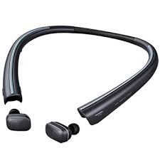 lg earbuds. lg tone free™ bluetooth® wireless earbuds with charging neckband lg