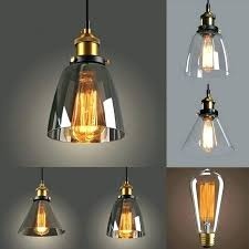 glass pendant light shade clear textured bell and frosted shades