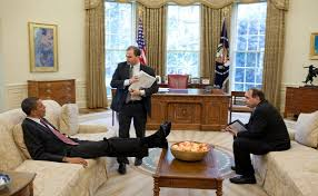 us president office. U.S. President Barack Obama Talks With Deputy National Security Advisor For Strategic Communication Rhodes And Senior Us Office T