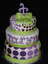 Lavender Baby Shower Decorations Lavender And Yellow Baby Shower Cake By Simply Sweets Via Flickr