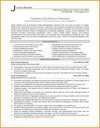 8 Construction Project Manager Cv Driver Resume