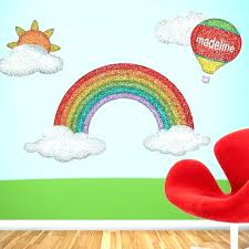 gallery of rainbow wall decal kids bedroom rainbows rainbow wall art nursery large rainbow wall stickers modern house
