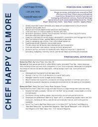Job Resume Free Sample Resume Templates For Chef Chef Resume