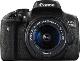 <b>Canon EOS 750D</b> Digital SLR Camera with 18 - 55 mm Lens ...