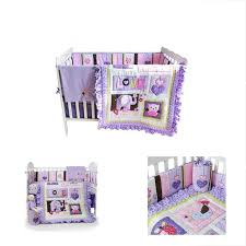 crib bedding sets for girls with per purple owl and elephant nursery set 8pcs