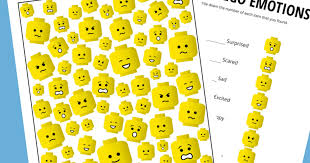 Lego Feelings Chart Exploring Emotions With Lego Faces Free Exploring
