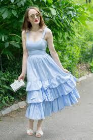 Light Blue Ruffle Dress Light Blue Ruffle Dress Style Sprinter Style Sprinter