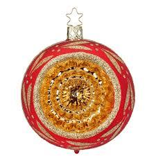 Weihnachtskugeln Flower Reflections ø 8 10cm Rot Glänzend Inge Glas Christbaumschmuck