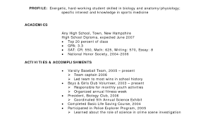 How To Write A Resume For High School Resume Template