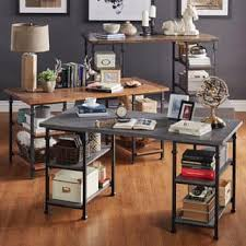rustic desk home office. Myra Vintage Industrial Storage Desk By INSPIRE Q Classic Rustic Desk Home Office