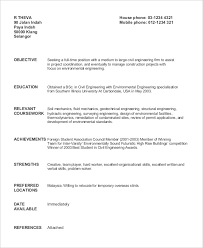 Civil Engineer Fresher Resume Sample. Civil Engineer Fresh Graduate