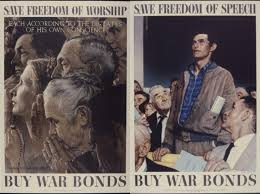 with his freedom of worship and freedom of sch ilrations rockwell brought concepts enshrined in the bill of rights to relatable life